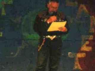 Lesung Türkei - Beim Lesen im Hotel Saray Regenc y(Oktober 2002)