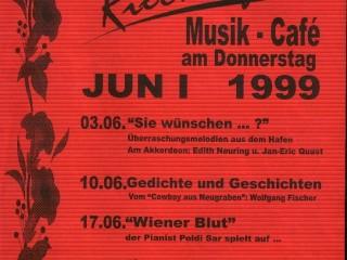 Rieckhof [Juni 1999] – Lesung im Musik Cafe Rieckhof