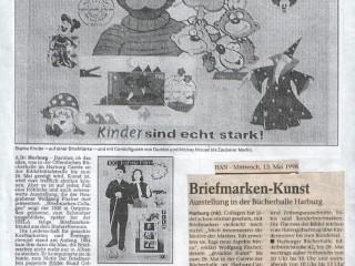 Harburger Rundschau [Mai 1998] – Komposition gezackter Kostbarkeiten