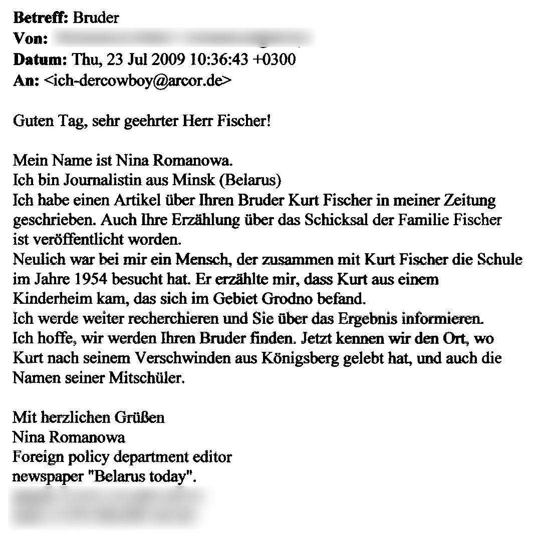 E-Mail - Bruder Suche (23.07.2009)