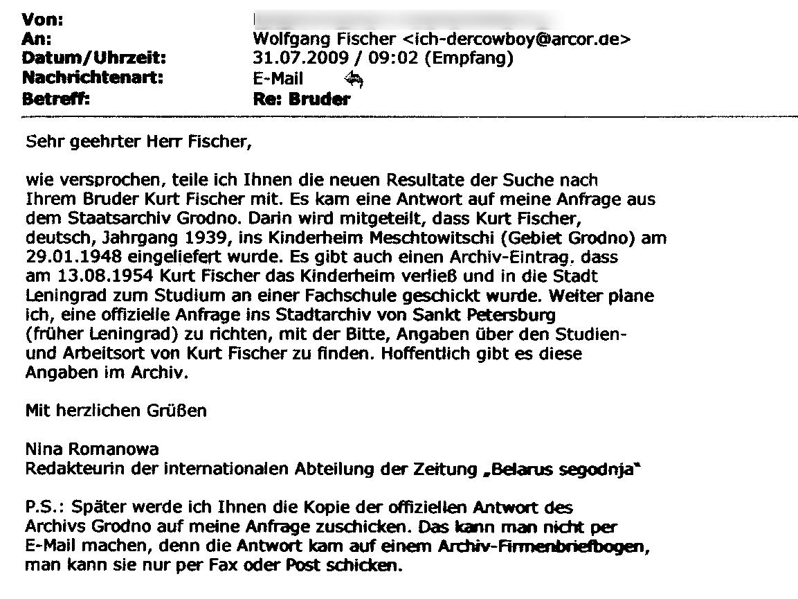 E-Mail - Bruder suche (31.07..2009)