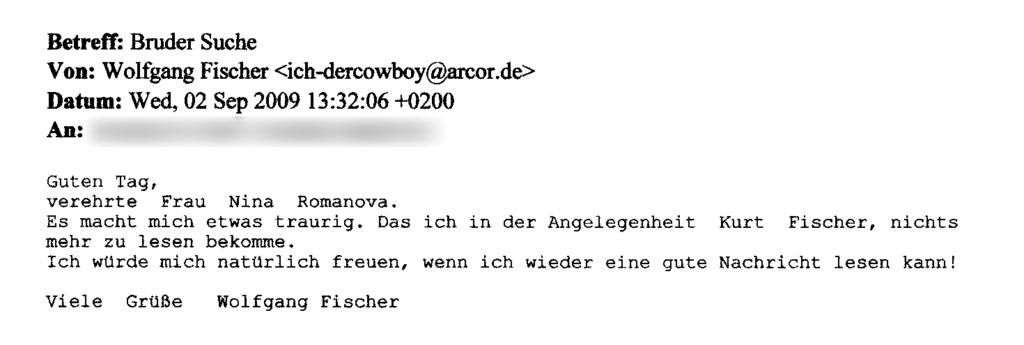 E-Mail - Bruder suche (02.09.2009)