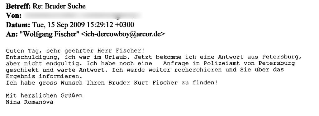 E-Mail - Bruder suche (15.09.2009)